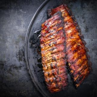 Kogt Svinekamben (BBQ marineret) 500-600 g