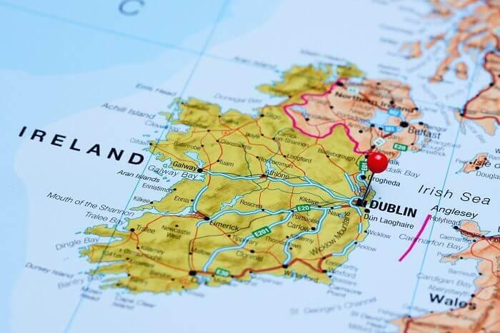 Irland kort